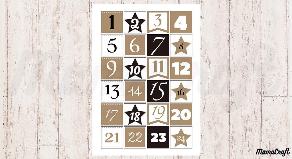 【無料素材】クリスマスまでのカウントダウン!アドベントカレンダーの素材