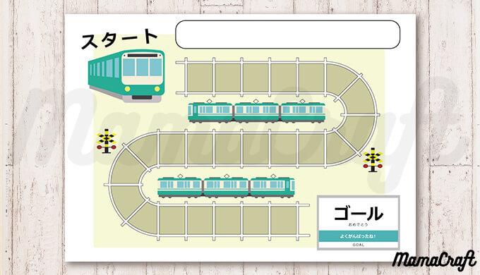 印刷するだけ!電車好きにおすすめしたい!無料ごほうびシール台紙