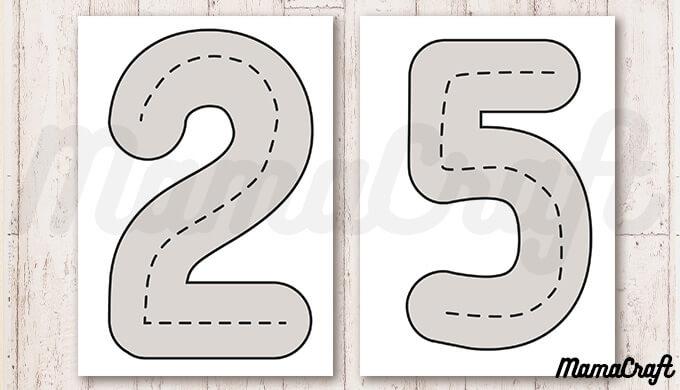 トミカなどのミニカーあそびに◎印刷したらすぐ使える!数字の道路マップ!ブラウンの道路バージョン
